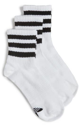 adidas 3-Pack 3-Stripe Ankle Socks