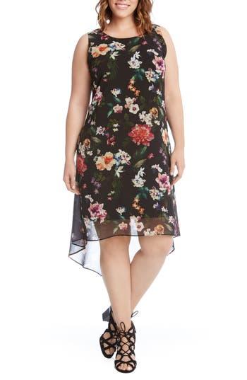Kane Kane Floral High/Low Dress (Plus Size)
