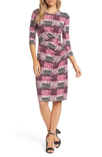 Eliza J Jersey Sheath Dress (Regular & Petite)