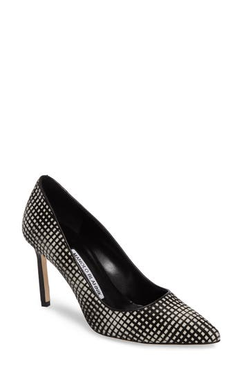 Manolo Blahnik BB Genuine Calf Hair Pump (Women)