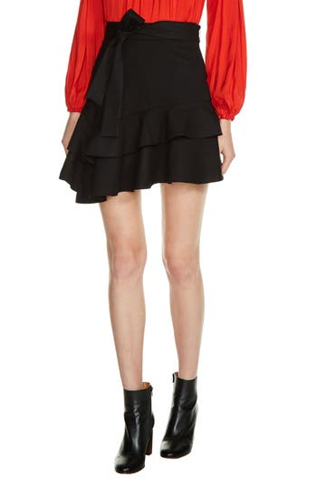 maje Tiered Ruffle Skirt