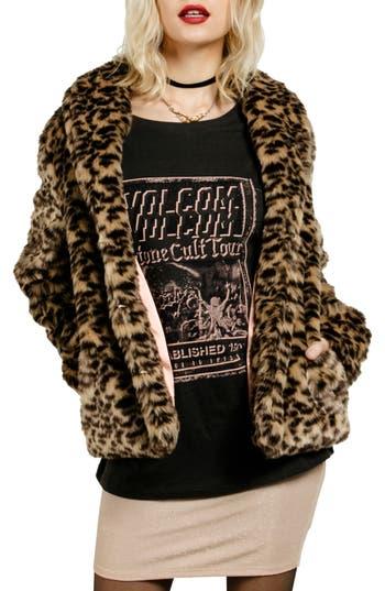 Volcom Fureals Faux Fur Coat