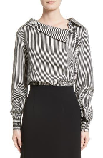 Asymmetrical Pinstripe Shirt by Altuzarra
