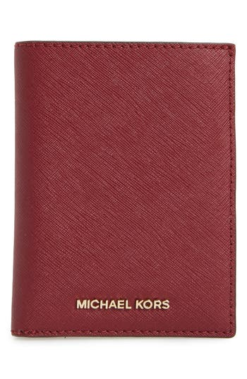 MICHAEL Michael Kors 'Jet Set' Leather Passport Wallet