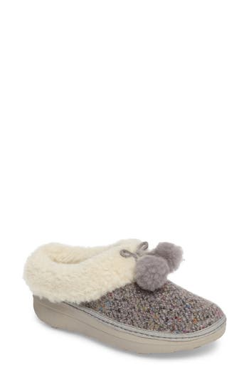 FitFlop? Loaff Pompom Wool Slipper (Women)