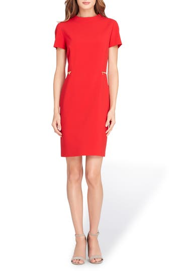 Tahari Mock Neck Sheath Dress ..
