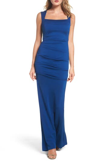 Adrianna Papell Gathered Jersey Gown