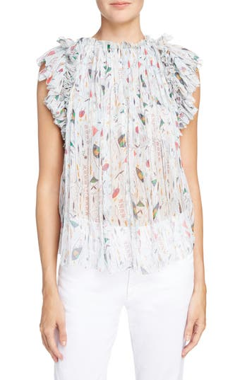 Isabel Marant Toile Erell Print Silk Top
