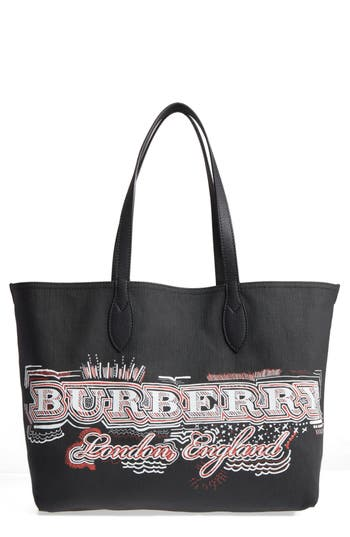 Burberry Sketchbook Series Reversible Coated Canvas Tote