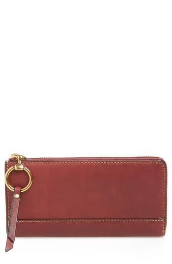 Frye Large Ilana Harness Leather Zip Wallet