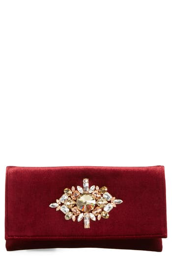 Shiraleah Val Crystal Embellished Clutch