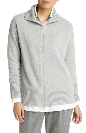 Lafayette 148 New York Luxe Merino Wool & Cashmere Sweater Jacket