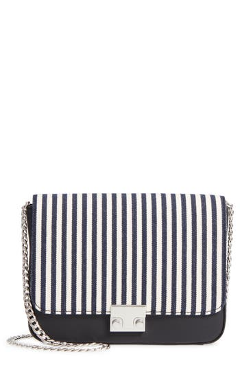 Loeffler Randall Lock Stripe Clutch/Shoulder Bag