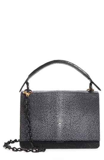 Divino Genuine Crocodile & Stingray Top Handle Bag by Nancy Gonzalez