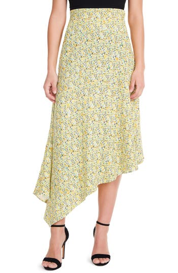 Pavia Asymmetrical Midi Skirt by Afrm