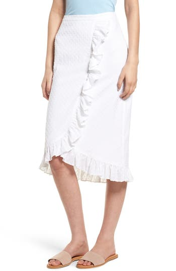 Ruffle Wrap Style Skirt by Hinge