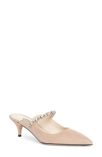 Crystal Embellished Pointy Toe Mule by Prada