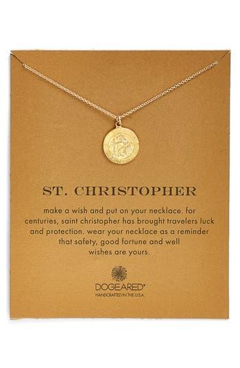 Dogeared St Christopher Pendant Necklace Nordstrom