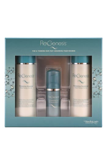 ReGenesis by RevitaLash<sup>®</sup> Total Care Fine & Thinning Hair Fast Absorbing Foam Regimen,                         Main,                         color, No Color