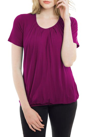 Nurture-Elle Pleated Short Sleeve Nursing Top
