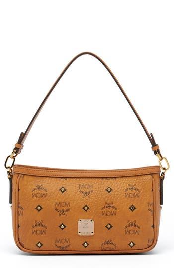 MCM 'Small Visetos' Convertible Coated Canvas Shoulder Bag