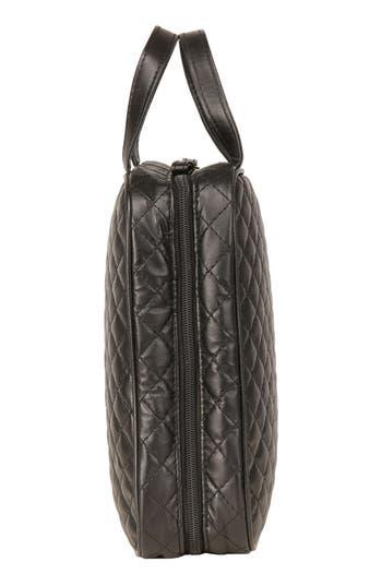 'Marissa' Black Quilted Cosmetics Case,                             Alternate thumbnail 3, color,                             No Color