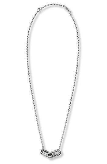 Steve Madden Hammered Link Pendant Necklace