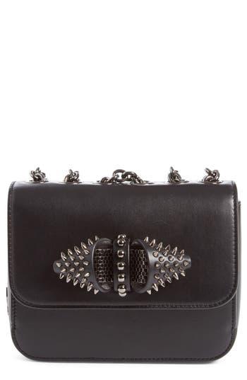 Christian Louboutin 'Mini Sweet Charity' Spiked Calfskin Shoulder/Crossbody Bag