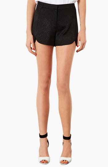 Main Image - Topshop Scalloped Shimmer Shorts