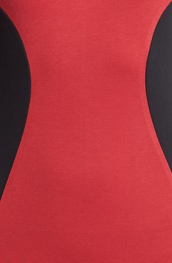 Alternate Image 3  - Madison Marcus Faux Leather Sleeve Colorblock Sheath Dress