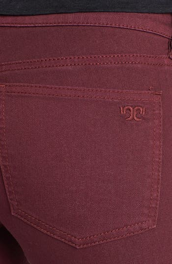 Alternate Image 3  - Tory Burch 'Ivy' Colored Super Skinny Jeans (Dark Plum)