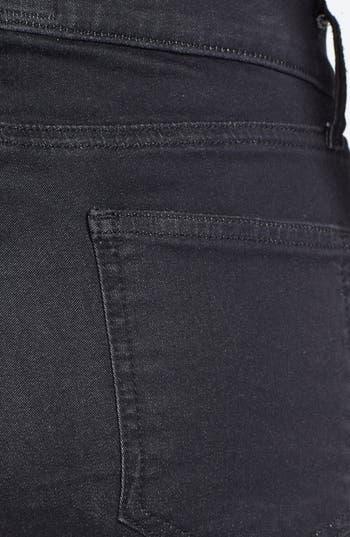 Alternate Image 4  - Current/Elliott 'The Ankle Skinny' Coated Animal Print Jeans