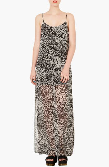 Alternate Image 1 Selected - Topshop Leopard Print Maxi Dress