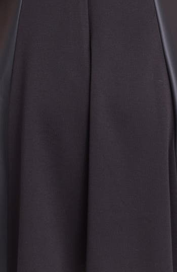 Alternate Image 3  - Vince Camuto Faux Leather Panel Fit & Flare Dress