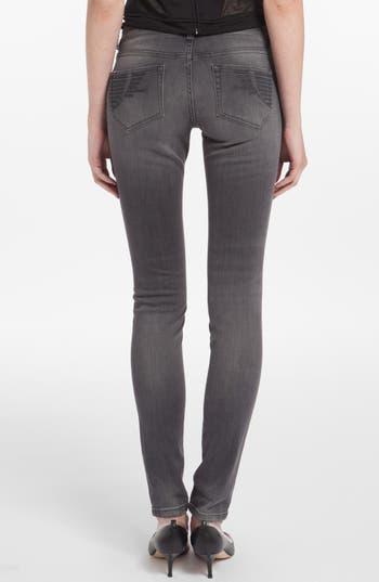 Alternate Image 2  - maje 'Jaw' Embroidered Pocket Skinny Jeans (Gris Fonce)