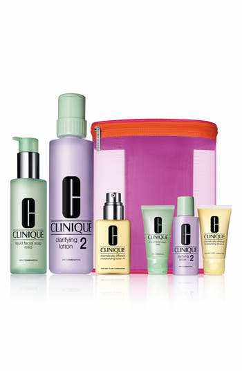 Alternate Image 1 Selected - Clinique 'Great Skin Home & Away' Set for Dry/Combination Skin ($89 Value)