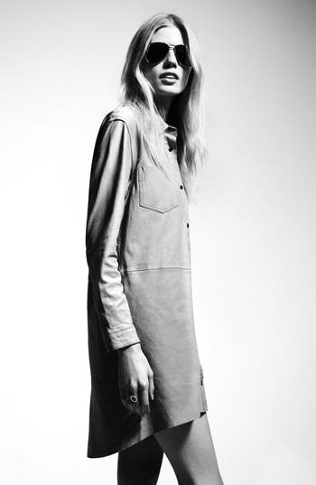 Alternate Image 2  - Topshop 'The Collection Starring Kate Bosworth' Leather Shirtdress