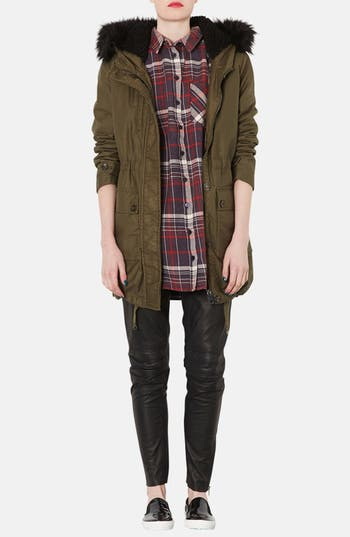 Alternate Image 4  - Topshop Check Print Oversized Cotton Shirt