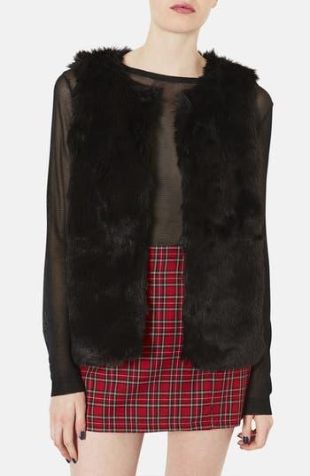 Main Image - Topshop Faux Fur Vest