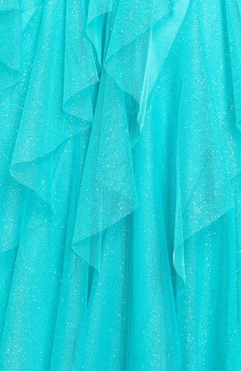 Alternate Image 3  - Hailey Logan Glitter Ruffle High/Low Dress (Juniors) (Online Only)
