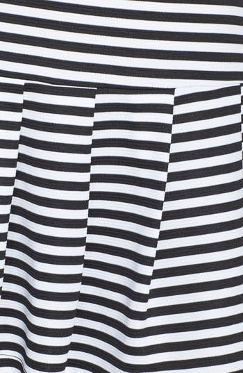 Alternate Image 3  - Lily White Stripe Pleat Skirt (Juniors)