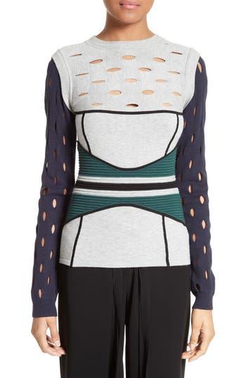 Yigal Azrouël Knit Colorblock Sweater