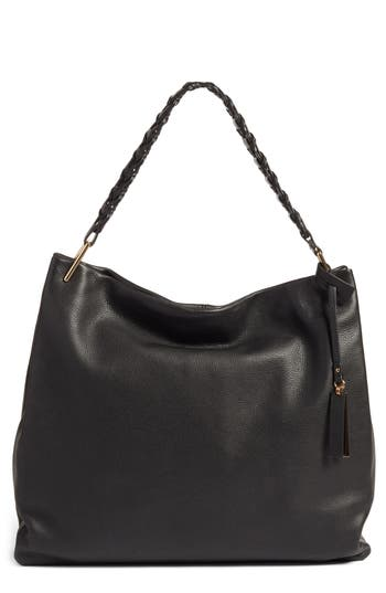 dfe1a37ad8454 Paul Costelloe Paul Costelloe Real Leather Slouchy Shoulder Bag In Black