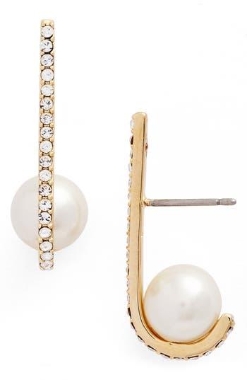 kate spade new york imitation pearl drop earrings | Nordstrom