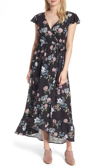 Band Of Gypsies Faux Wrap Maxi Dress Nordstrom