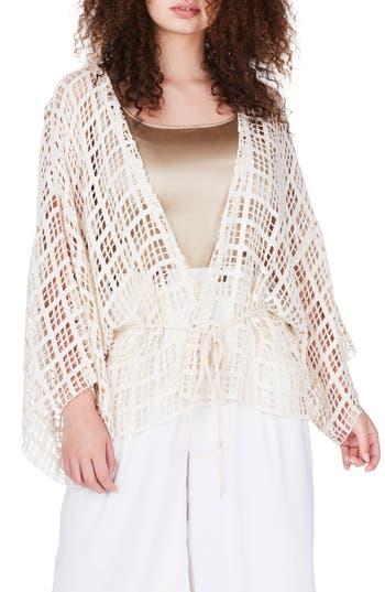 ELVI Square Lace Kimono (P..