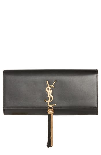 Saint Laurent Kate Calfskin Leather Clutch