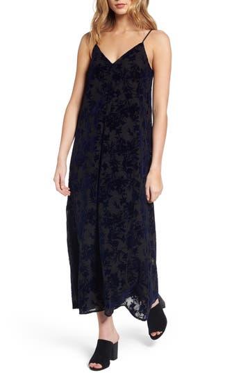 Hinge Burnout Velvet Midi Dress