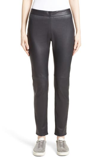 Fabiana Filippi Side Zip Stretch Leather Leggings