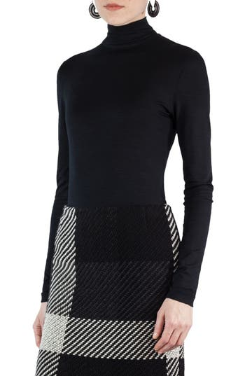 Akris punto Stretch Jersey Turtleneck